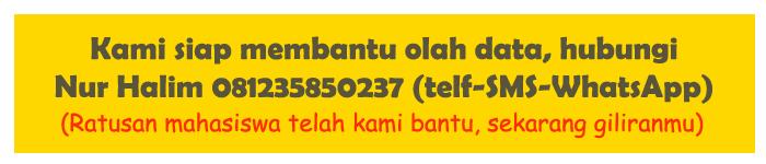 Jasa Olah Data SPSS di Sukabumi Murah dan Cepat Satu Hari Selesai