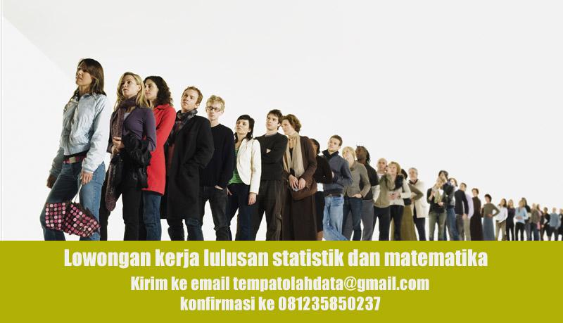 Kerja Sampingan Peluang Kerja Lulusan Statistika